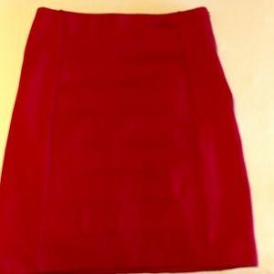 White House Black Market cranberry skirt size 6